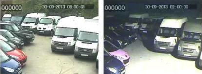 Floodlight CCTV footage / image example