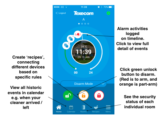 Texecom Connect App