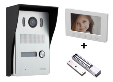 Video door entry system with maglock