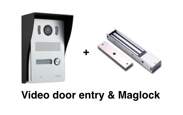 How to install a video door entry system with a Maglock (magnetic lock)