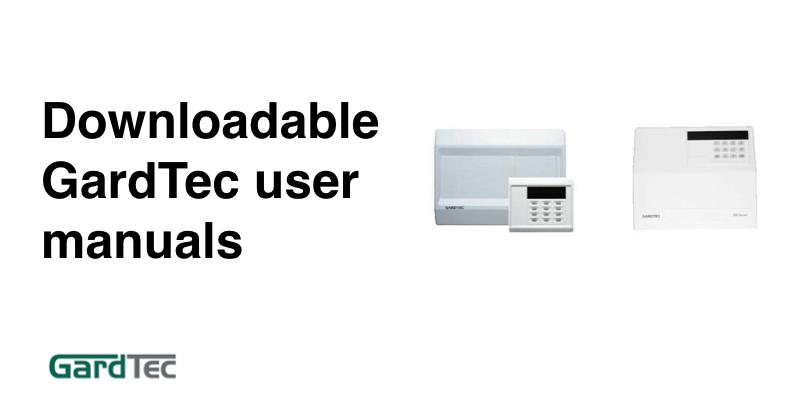 Gardtec alarm user guides