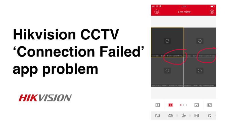 Hikvision Camera 'connection failed' problem on iVMS-4500 app – How to Fix
