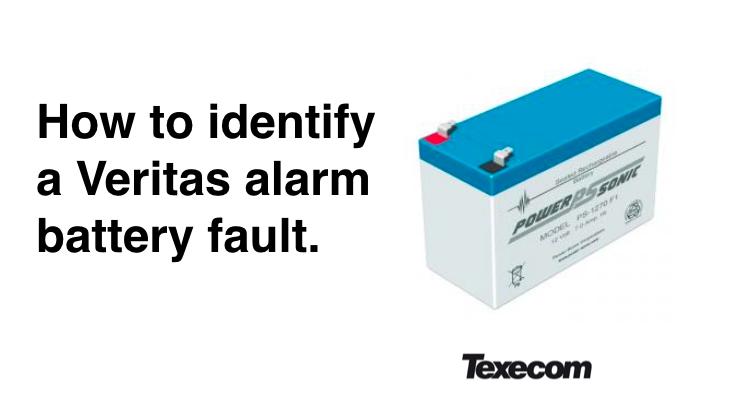 Veritas alarm beeping due to battery fault