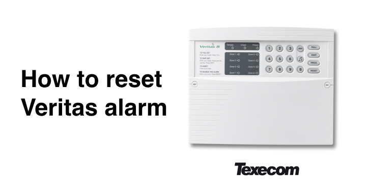 How to reset Veritas alarm