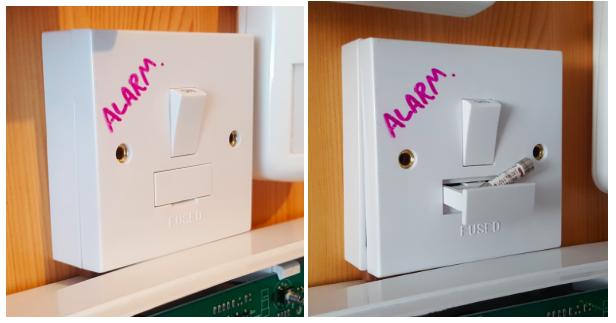 Burglar alarm fuse