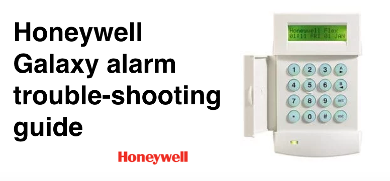 ADT Honeywell Galaxy alarm trouble-shooting guide