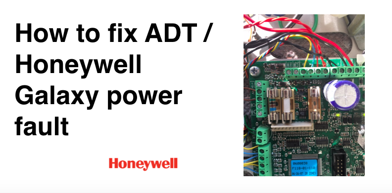 Honeywell Galaxy Alarm Power failure problem: +CU AC message