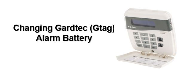 How to change Gardtec alarm battery