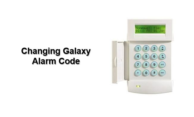 How to change Honeywell Galaxy alarm code