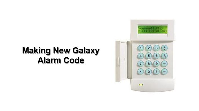 Don't know Honeywell Galaxy alarm code, how to make new alarm code