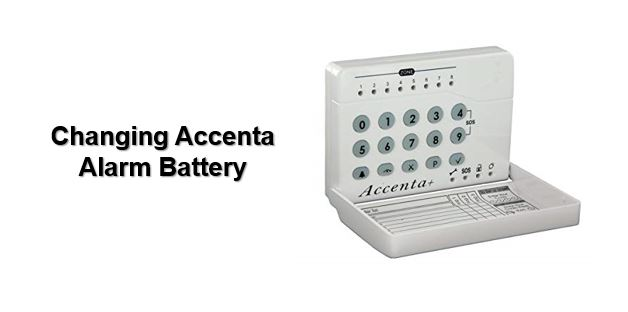How to change Accenta alarm battery