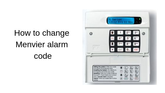 How to change Menvier alarm code