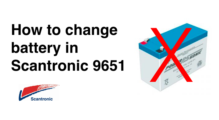 How to change Scantronic 9651  alarm battery